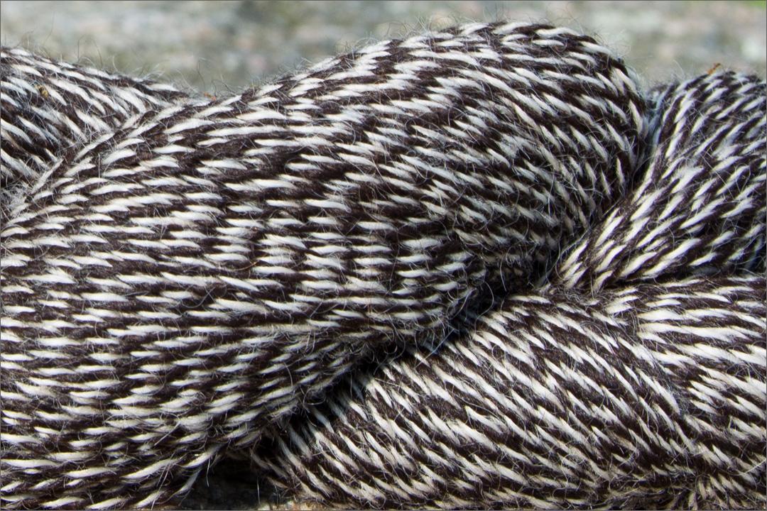 Strickgarn 2-farbig